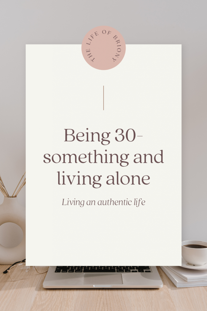 Being 30-something and living alone