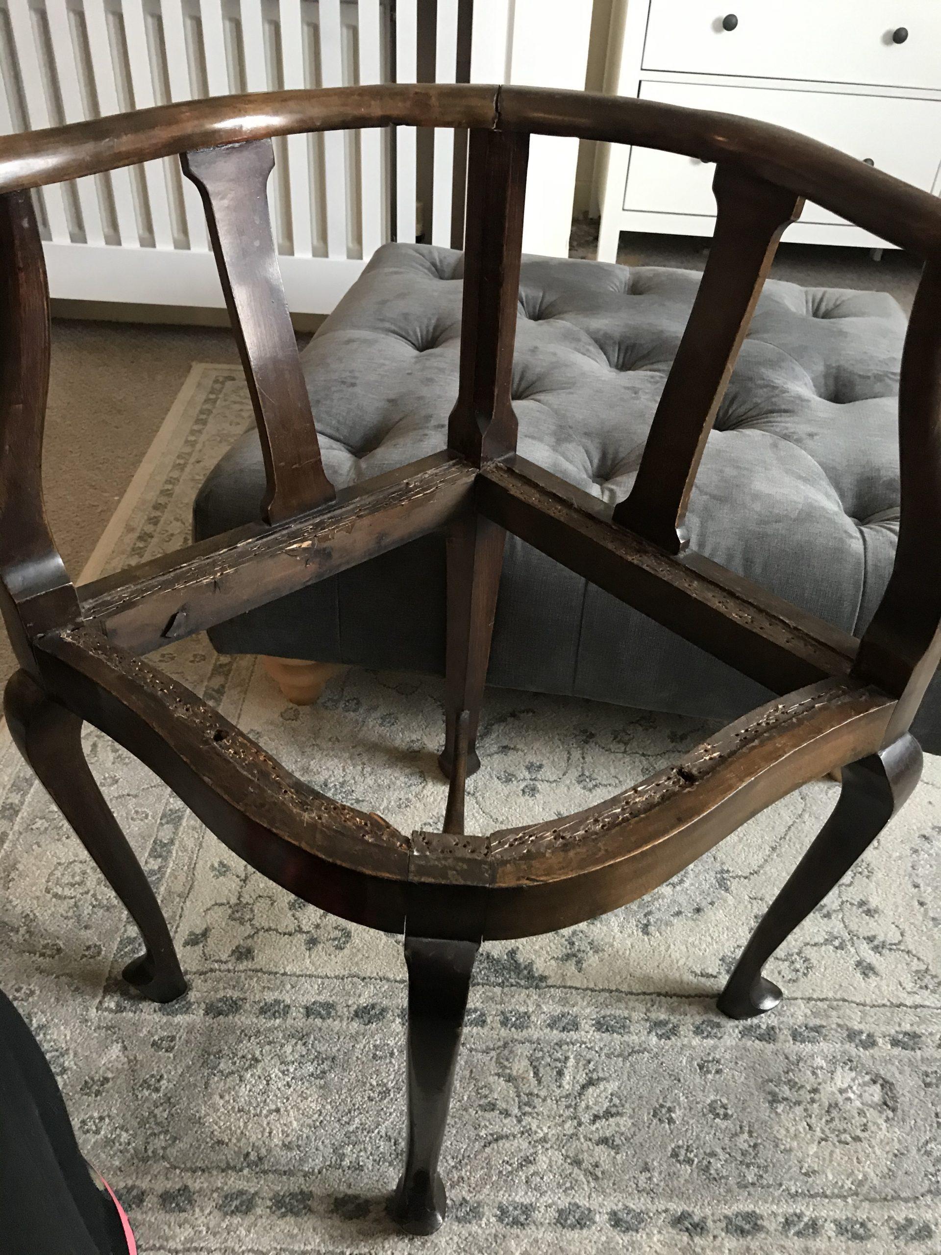 Chair stripped down